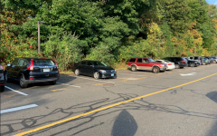 Many parking spots in all areas of the Staples parking lot are left unoccupied during the day, as only half of the senior class is on campus.