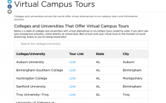 Virtual College Tours are available for High School Seniors to view due to the shut down of in-person tours after Covid-19 limitations.