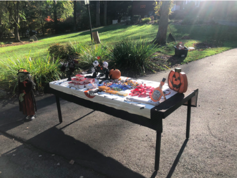 In order to heed to coronavirus safety precautions, typical Halloween festivities including trick or treating were forced to adapt. Like many other roads around Westport, High Point Road decided to put tables outside of each house with individually wrapped pieces of candy to make trick or treating a safer and less risky way of allowing kids to experience the fun of Halloween.