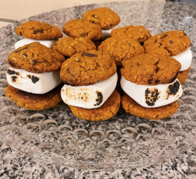 Pumpkin chocolate chunk oatmeal cookies are a fun and festive treat for Thanksgiving as well as the fall season.
