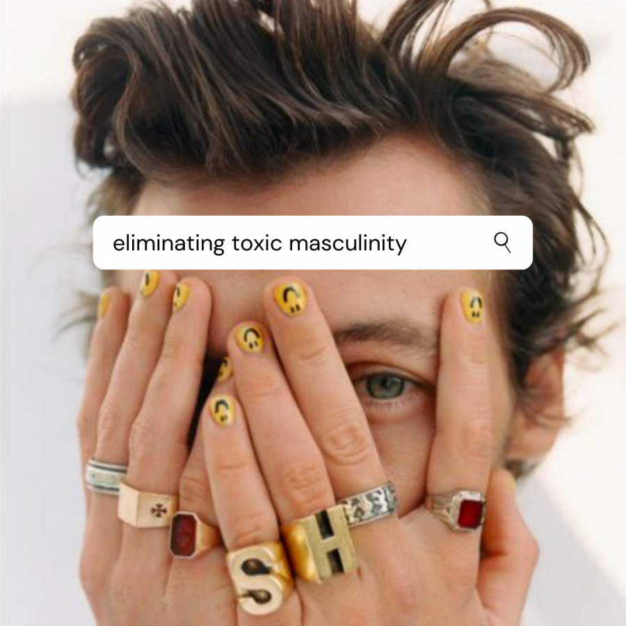 Harry+Styles+breaks+social+norms+by+wearing+a+dress+on+Vogue%27s+cover+issue.+Styles+is+the+first+solo+male+to+appear+on+the+cover+for+Vogue.+
