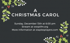 "Staples Players will be putting on a radio performance of ""A Christmas Carol"" on Dec. 13. It will be one of several radio shows that have been put on since COVID-19 made on-stage performances inadmissible."