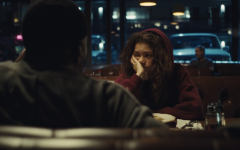 Ali makes Rue uncomfortable as he asks questions about what led up to her relapsing. There is a very intentional use of pauses between each of their lines that creates an underlying tension.