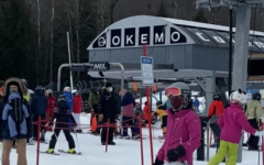 Okemo mountain lift lines get crowded as skiers hit the slopes for winter break. With Covid still around, guidelines have been implemented to ensure everyone has a safe experience.