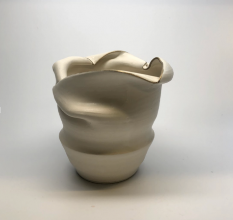 This vase was created this fall and the piece will be included in Kate Stephan's '21 mid-year portfolio project.