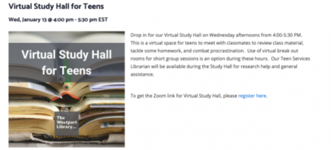 Westport Public Library's virtual study halls foster academic opportunities