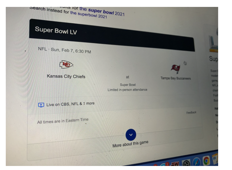 The Super Bowl is an annual championship game of the National Football League. This year, adjustments are being made so that the Kansas City Chiefs and the Tampa Bay Buccaneers will still be able to compete.