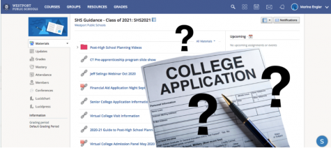 This year brought an unprecedented obstacle for the guidance department as they had to help navigate seniors through the college process while hybrid learning occurred and the ability to help students in person was no longer allowed.