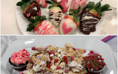 Indulge this Valentine's day with either puppy chow or chocolate covered strawberries.