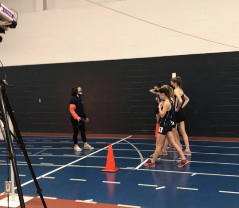 Girls indoor track team races ahead during first virtual meet