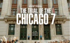 """The official release poster for the film """"Trial of the Chicago 7,"""" a courtroom drama that was critically acclaimed."""