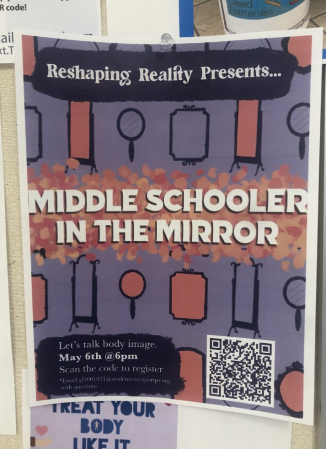 Reshaping Reality has put up several posters around the school, including a QR code to the Zoom (which can be scanned here), which takes place on May 6 at 6 p.m.