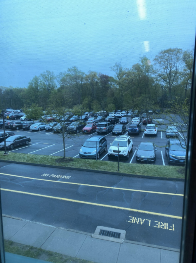 Seniors parking spots are in close proximity to the cafeteria making it easy and accessible for students to get their cars during lunch.