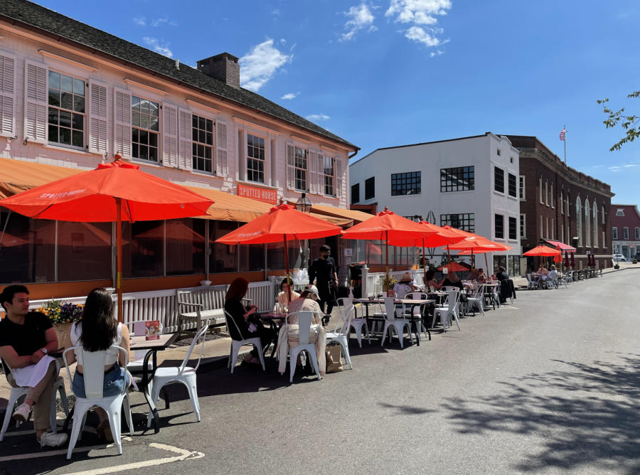 Restaurants in Connecticut are now able to dine at full capacity, which has allowed for a resurgence in popular Westport dining spots such as the Spotted Horse in downtown Westport.
