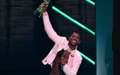 Lil Nas X accepted VMA awards for both best video and direction for his song Montero (Call Me By Your Name).