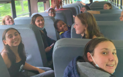 Many student-athletes have athletic early dismissals to get to their game/meet in time, causing them to miss hours of school. Pictured above, the Staples girls' swim & dive team is on their way to an away meet, where they were dismissed from school around 1 p.m.