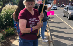 """In response to the Texas abortion ban and subsequent Supreme Court ruling, protesters yelled chants such as """"my body, my choice"""" and """"we won't go back"""" throughout the rally."""
