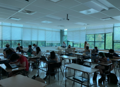 Students in a Personal Financial Management class use Communication Time to do independent work, rather than engaging in class-wide activities.