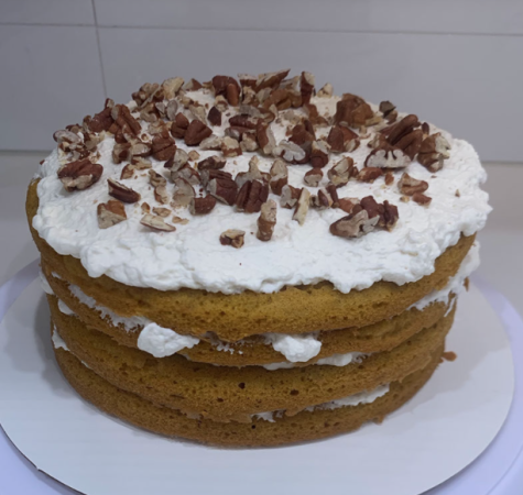 This classic pumpkin cake is perfect for ringing in the season and adds a unique twist on a popular fall flavor.
