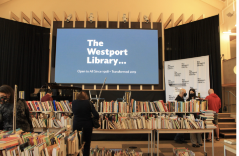 The Westport Library held their 29th annual book sale this past weekend. All of the books are donated by the Westport community and are sold at discounted prices, with the proceeds going to the library.