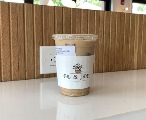 Pictured here is GG and Joe's iced pumpkin spice latte, one of the various fall inspired drink options in downtown Westport.