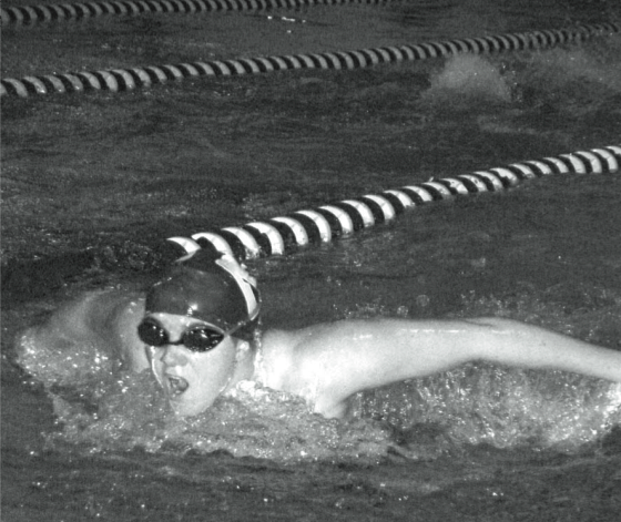 Butterfly: Caitlin Wiederecht 11 contributed to a Wrecker win in the 200 medley relay on Oct. 21 | Photo by Suzanne Klein 11