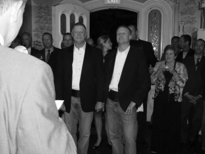 Chip Reed (left) and Teacher Chris Fray at their Oct. 8th wedding.