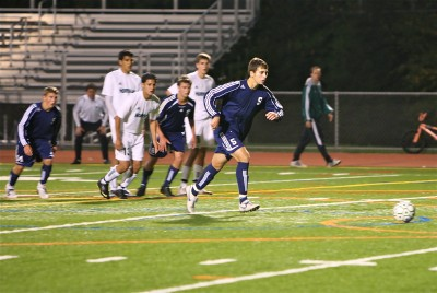 Captain Alan Reiter '10 leads the 10-1 boys soccer team. Photo courtesy of Carl McNair