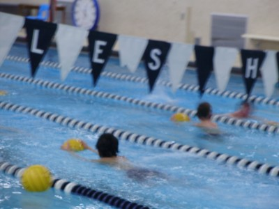The boy's water polo team practices hard in hopes of winning their upcoming games. | Photo by Alicia Lourekas '12