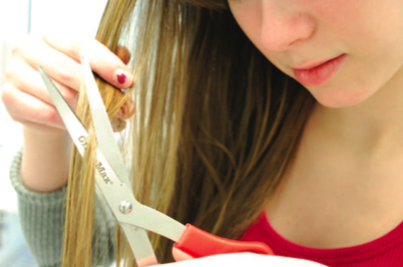 Cut It Out: Some people choose to cut their own hair out of convenience or to save money spent at the salons. | Photo by Madeline Hardy '11