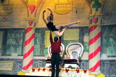 Julie Lunde '11 practices at a rehearsal for her part as the Sugarplum Fairy | Photo by Julia Edelman '11