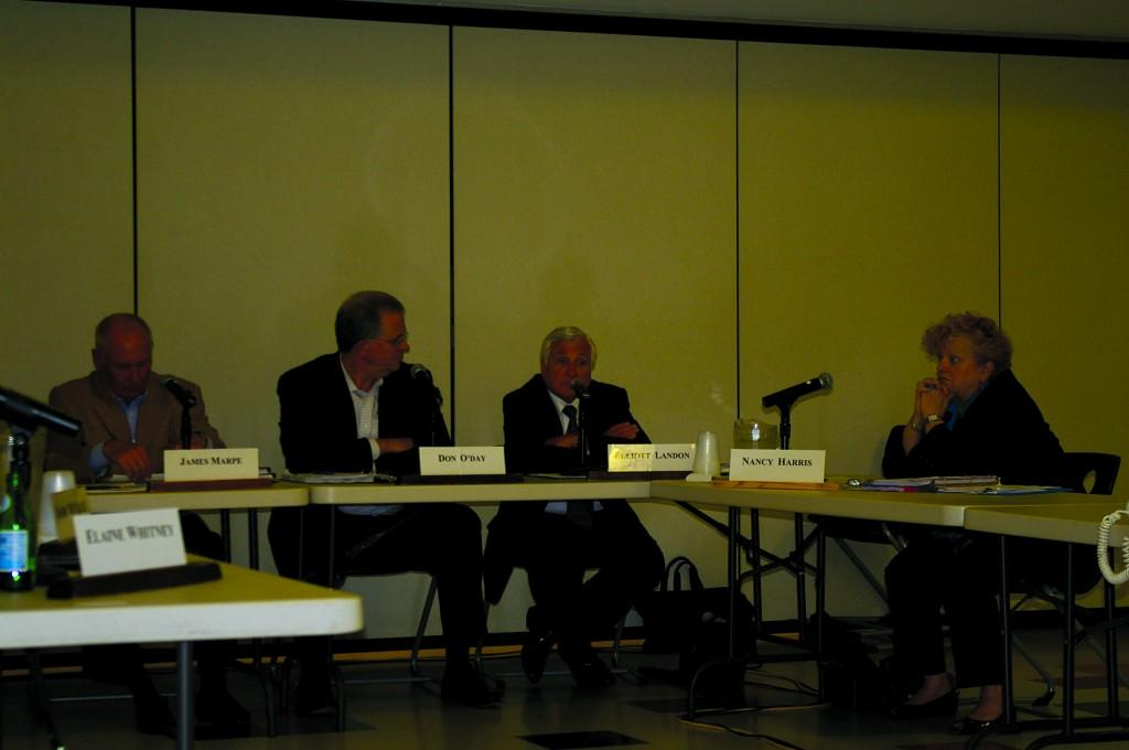 Above, the BOE deliberates at a June 2009 meeting. | Photo by Madeline Hardy 11