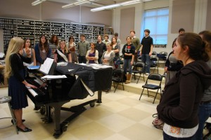 Music to their ears: The orphenians, a group composed of the school's elite vocalists, is honoring the 50th anniversary of its creation this year. | Photo by Madeline Hardy