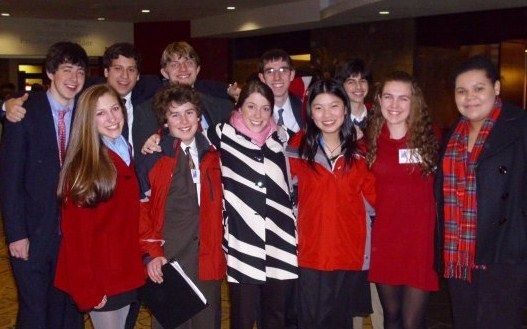 Members of the JSA club pose at the