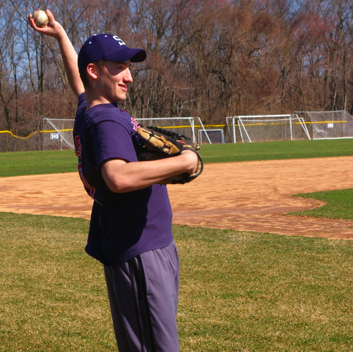 Pitcher David Speer '10 hopes to have his team win the FCIAC tournament for the third year in a row. | Photo by Carlie Schwaeber '12