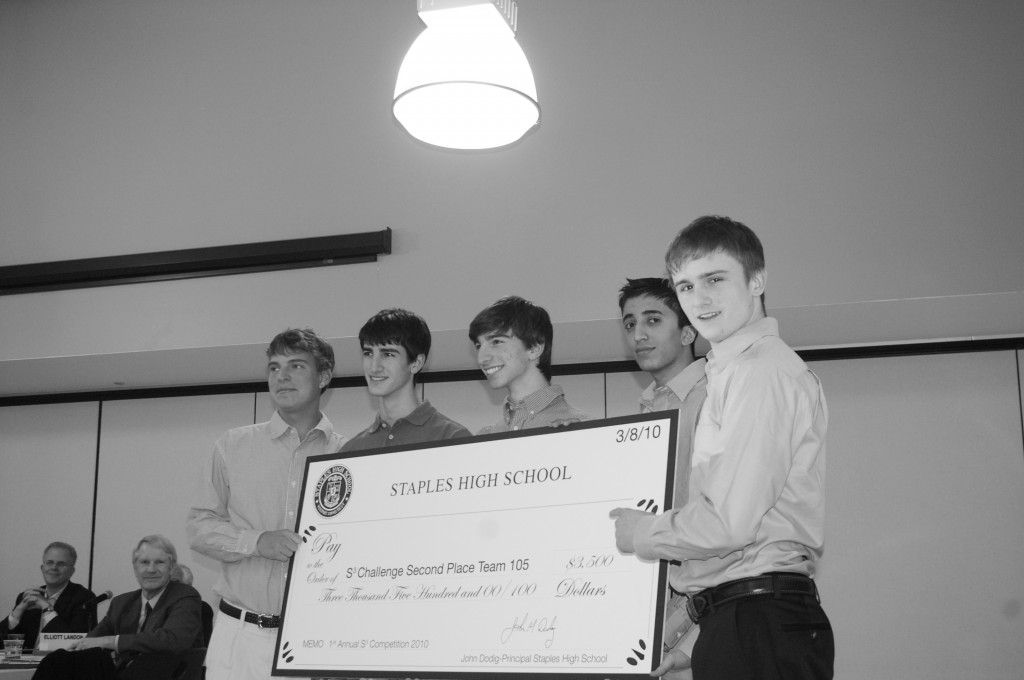 Pictured above are the second place winners of the Staples Student Spectacular Challenge.  | Photo by Petey Menz '11