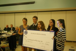 Pictured above are the winners of the first Spectacular Staples Student Challenge. | Photo by Petey Menz '11