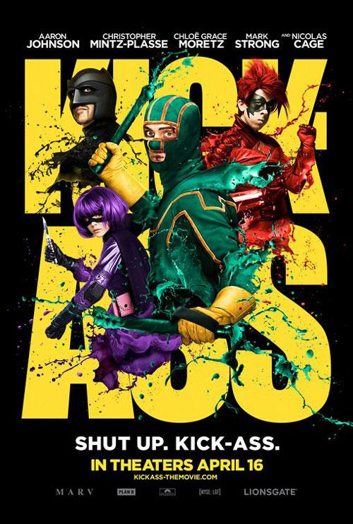 Kick-Ass movie poster | Photo by www.shockya.com