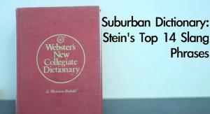Suburban Dictionary: Stein's Top 14 Slang Phrases