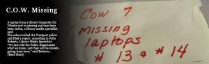 COW Allegedly Stolen, Police Presence