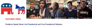 Students Speak About the Presidential and Vice-Presidential Debates
