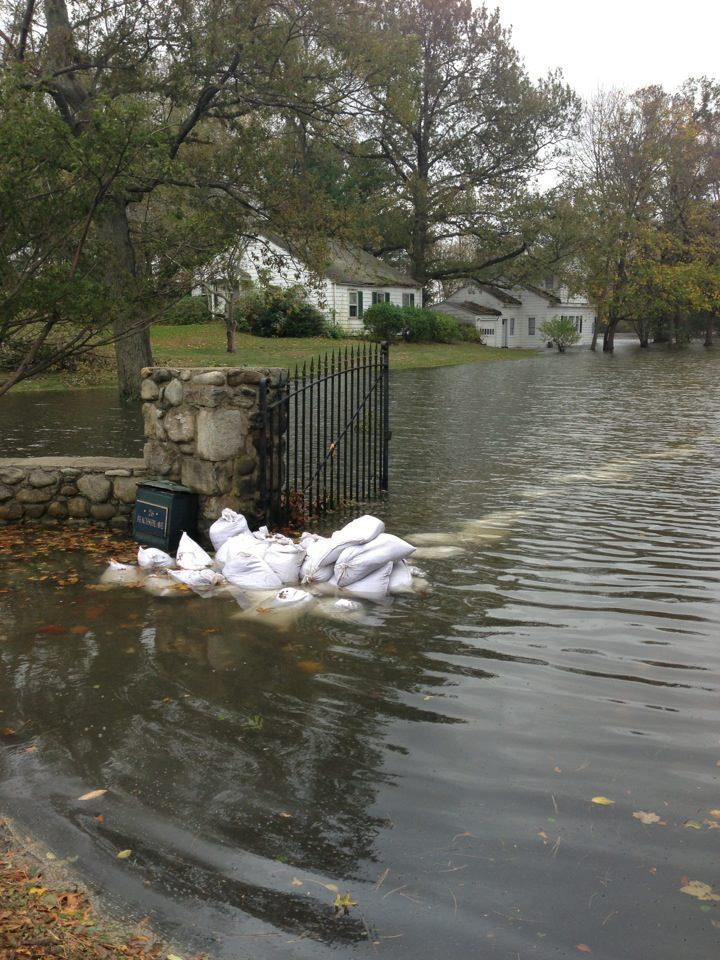In many homes, flooding is still present. This is at Beachside Ave.