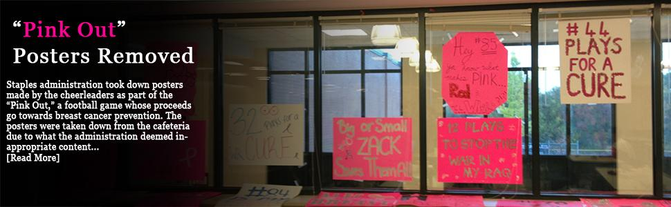Administration Takes Down Cheerleader Breast Cancer Posters