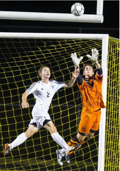 Hickok at it again, saving the ball and preventing the other team from getting a goal.