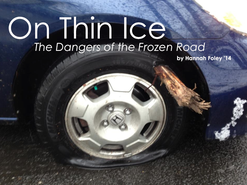 Many students—like Max Liben '14—have damaged their cars driving in the inclement weather.