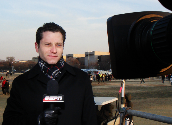 Although Jeremy Schaap most recently received attention for his interview with Manti Te'o, he has also covered events like the World Cup and the Olympics, as well as in-depth investigative sports journalism pieces.