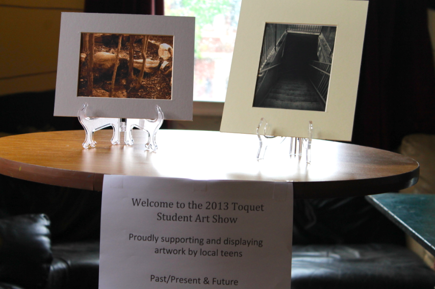 Welcome: A sampling of some of the art on display at Toquet Hall