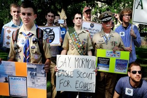 The issue of whether to admit openly gay scouts has been controversial, but the Boy Scouts voted to admit them on May 23.