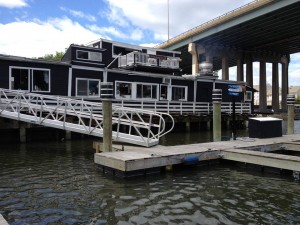 The outside of the still-standing Black Duck