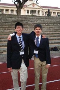 Schorr and Cody were the only two Westport students representing the United States among 13 other coutnries at the Hwa Chong Insitute.